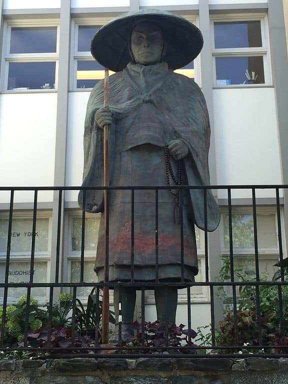 Statue of Shinran Shonin on Riverside Drive New York